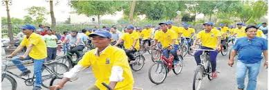 indore, three thousand participants ,attended  huge bicycle rally