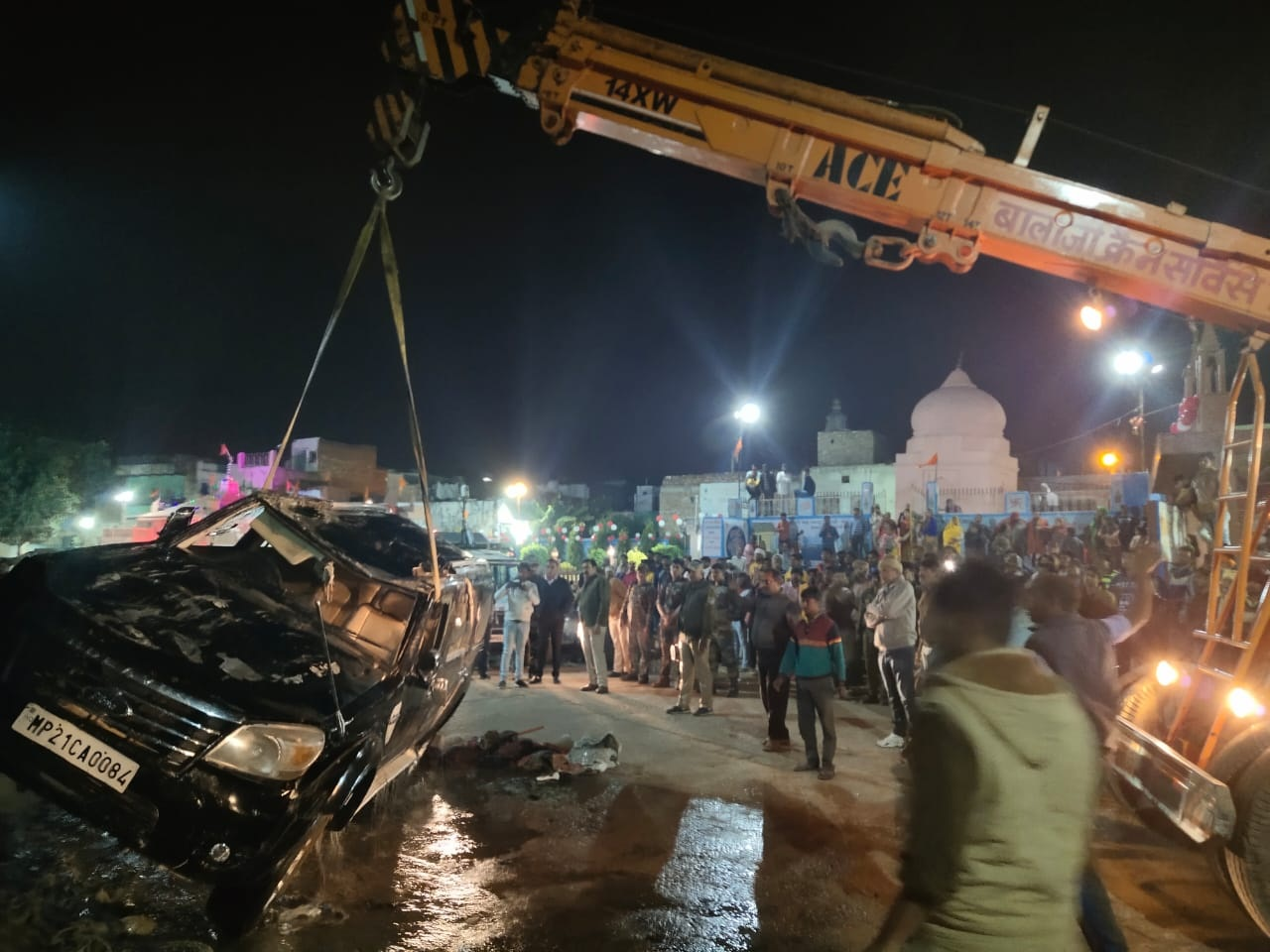 bhind, Car collapsed, Gauri Sarovar three Kanwaris died