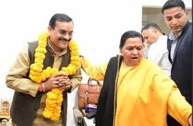 bhopal, Uma Bharti ,reaches BJP office, praises VD Sharma , tilak fiercely