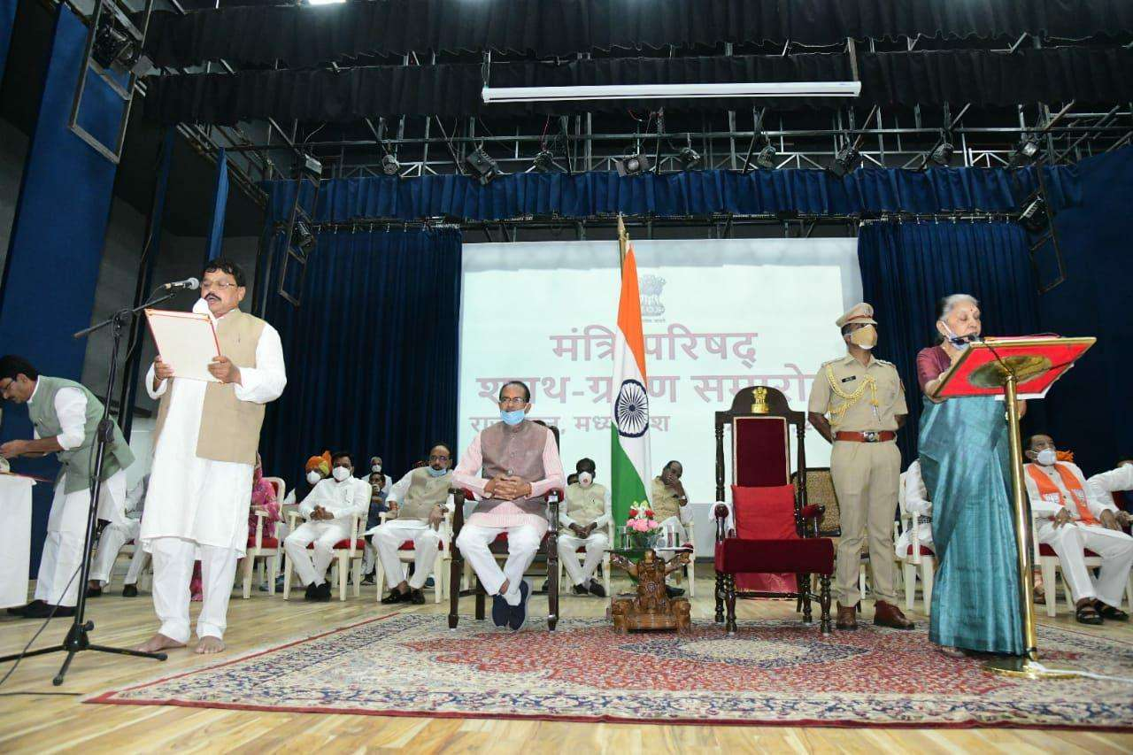 bhopal,Minister, Pradyumna Singh Tomar ,not wear shoes , slippers ,even now