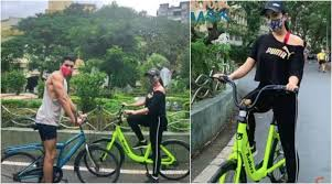mumbai, Sara Ali Khan, enjoys cycling, with brother,lockdown