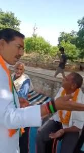shivpuri, Villagers hear ,BJP candidate ,seeking votes