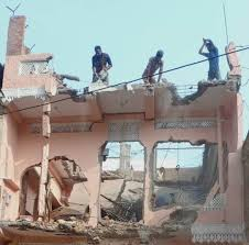 Bhopal, District administration, demolishes illegal, house of mafia