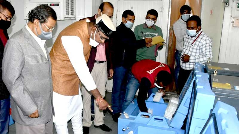 bhopal,MP 94 thousand ,corona vaccine arrived, Minister Sarang inspected