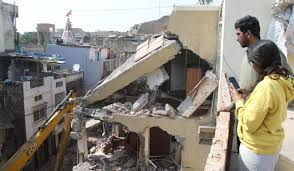 Indore, Demolition continues, third day , illegal construction,ration mafia