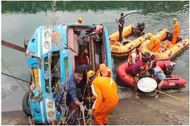 sidhi, Two more ,dead bodies found ,96 hours after, bus accident, death toll reached 53